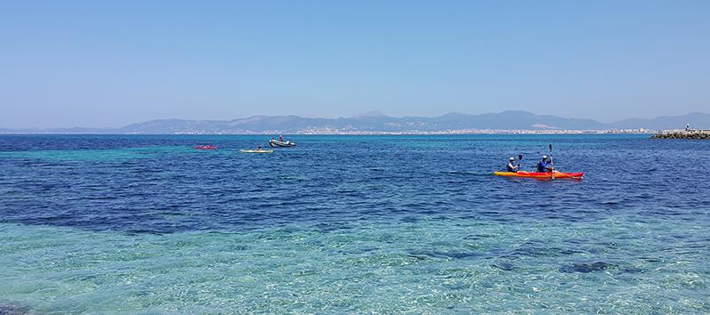 Piragüismo, deportes acuáticos en Mallorca