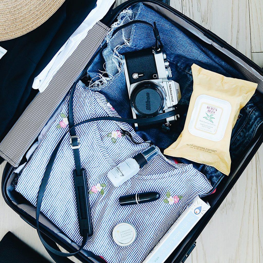 viajar con niños, maleta