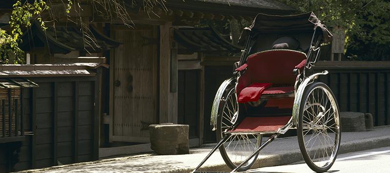 consejos para viajar solo, Rickshaw de tracción humana