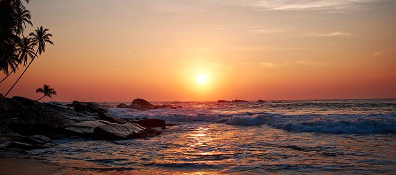 consejos para fotos de viajes, atardecer en la playa