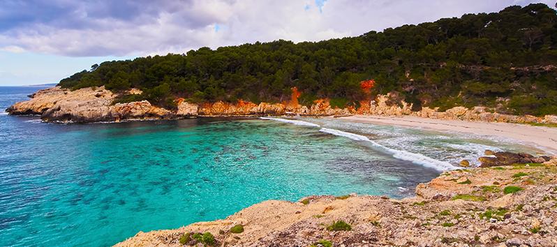 beaches of Menorca to go with dogs, cala Escorxada (Menorca)
