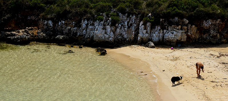 beaches of Menorca to go with dogs, cala Pudent (Menorca)