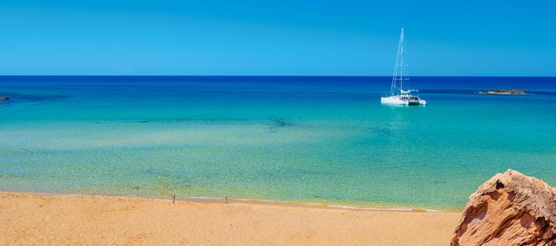 Cala pilar, excursiones en barco en Menorca