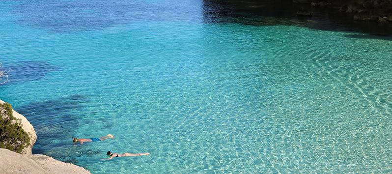 lugares de Menorca donde desconectar_snorkel